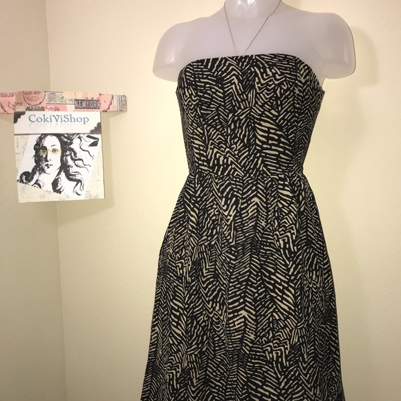 Strapless Dress With Boning
